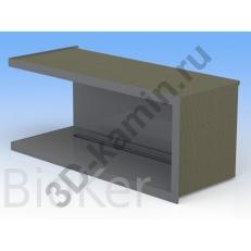 Очаг Угловой 50-80 см Топливный блок BioKer 30 см