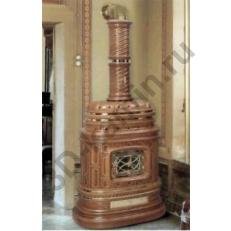 Печь камин Sergio Leoni Corsara - Корсара закругленная облицовка из керамики