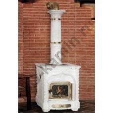 Печь камин Sergio Leoni Giglio - Гиглио керамика, декоративные элементы из латуни